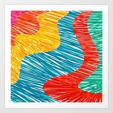 Color waves Art Print
