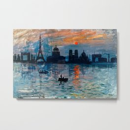 Paris Skyline 7 Metal Print