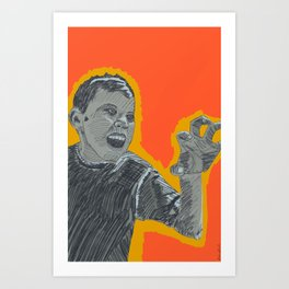 The right amount of rage Art Print