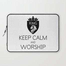 KEEP CALM AND WORSHIP Laptop Sleeve