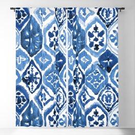 Arabesque tile art Blackout Curtain