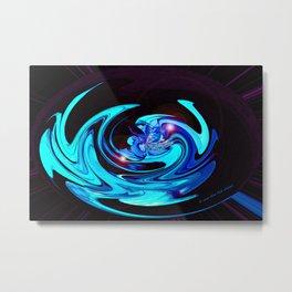 """Cut Blue Diamond""  Metal Print"