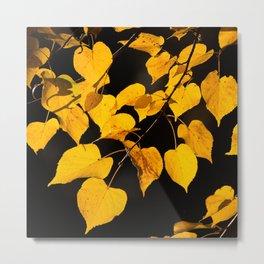 Autumn Foliage Yellow Leaves #decor #buyart #society6 Metal Print