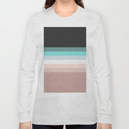 Charcoal, blue and pink pastel blend Long Sleeve T-shirt