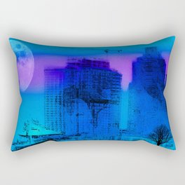 Baltimore Blues, Skyline, Nigt, Maryland, Charm City, Inner Harbor, Wall art, Baltimore Cityscape, Rectangular Pillow