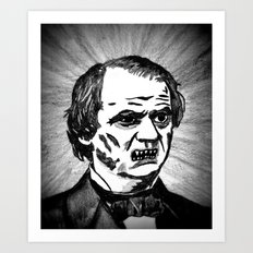 17. Zombie Andrew Johnson  Art Print