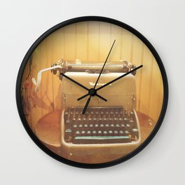 Remington Typewriter  Wall Clock