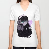 goth V-neck T-shirts featuring Goth Tea by Princess Misery