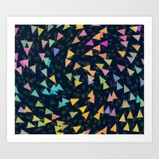 Spirling Triangles Art Print