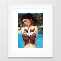 pool Framed Art Prints featuring Pool by Hester Jones