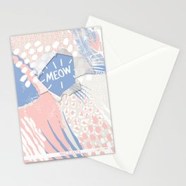 meow (wild cats)  Stationery Cards
