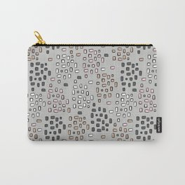Rectangle Square Doodle Vector Pattern Seamless Carry-All Pouch
