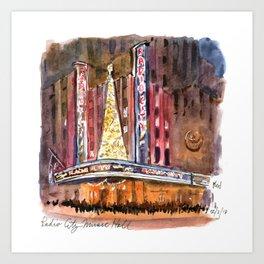 Radio City Music Hall at Christmas Art Print