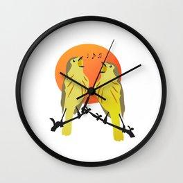 bird singing Wall Clock