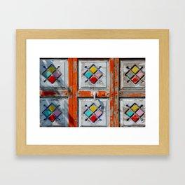 painted door Framed Art Print