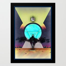 Glow, the light from above Art Print