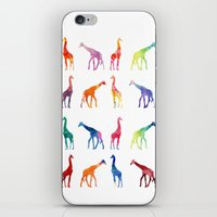 giraffes iPhone & iPod Skins featuring Giraffes by emegi