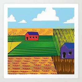 Campi (Fields) Art Print