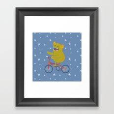 Cycling Monster Framed Art Print