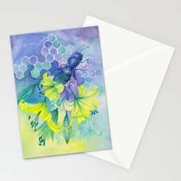 Bee Disappearance, Watercolor Painting Stationery Cards