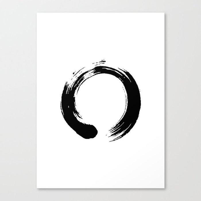 09da405fb3af5 enso, enso circle, zen circle, zen enso, zen symbol, zen art, japanese  circle, japanese, japanese ar Canvas Print. by