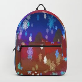 Mountains and Snowflakes Backpack