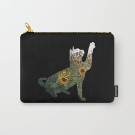 Cat Silhouetted in Sunflowers Carry-All Pouch