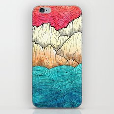 As the sea hits the mountains iPhone Skin