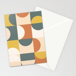 Mid Century Modern Geometric 23 Stationery Cards