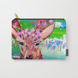 Deer Print Carry-All Pouch