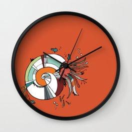 Nautilus Orange Wall Clock