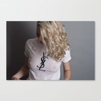 ysl Canvas Prints featuring Wet YSL by JWWY