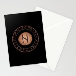Hagalaz - Elder Futhark rune Stationery Cards