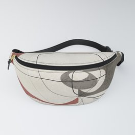 Minimalist Abstract Art Shapes - Scribbles Earth Red 2 Fanny Pack