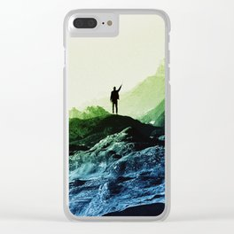 Blue Contact Clear iPhone Case