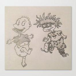 Rugrats Drawing Canvas Print