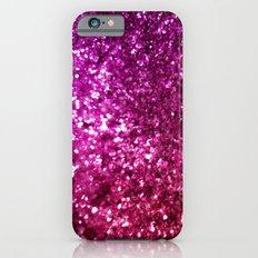 Pretty Pink Faux Glitter Slim Case iPhone 6s