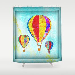 Beautiful Balloons Mosaic-Look Shower Curtain