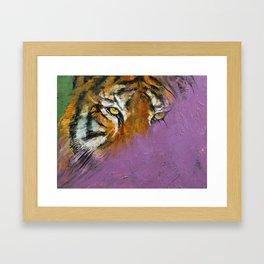 Shadow Tiger Framed Art Print