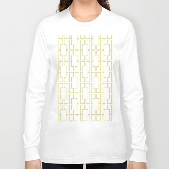 Simply Mid-Century in Mod Yellow Long Sleeve T-shirt