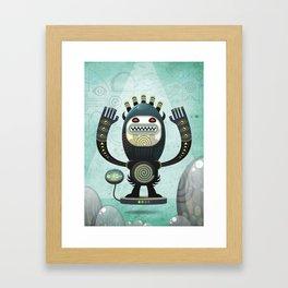 Alien Guard Framed Art Print