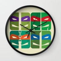 tmnt Wall Clocks featuring TMNT by Szoki