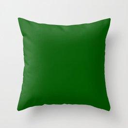 Monochrom 16 dark green Throw Pillow