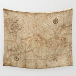 Portolan Chart of the Mediterranean circa 1500 Wall Tapestry