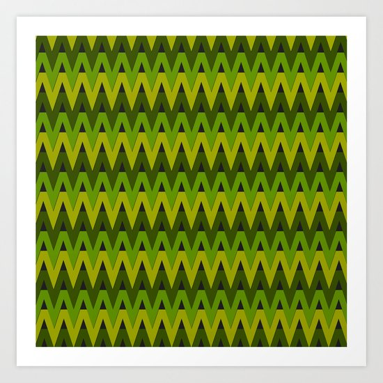 Summer Chevrons Art Print