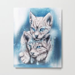Blue Winter Lynx - Sheena Pike Art & Illustration Metal Print