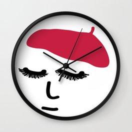 Face Beret Wall Clock