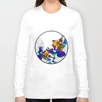pasta Long Sleeve T-shirts featuring Pasta Illustration by AJJ ▲ Angela Jane Johnston