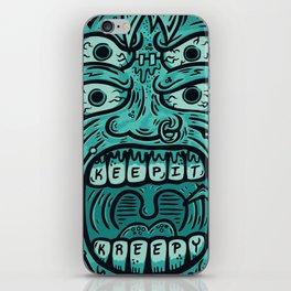 KEEP IT KREEPY iPhone Skin