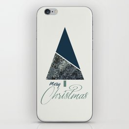 Blue Xmas #society6 #blue #xmas iPhone Skin
